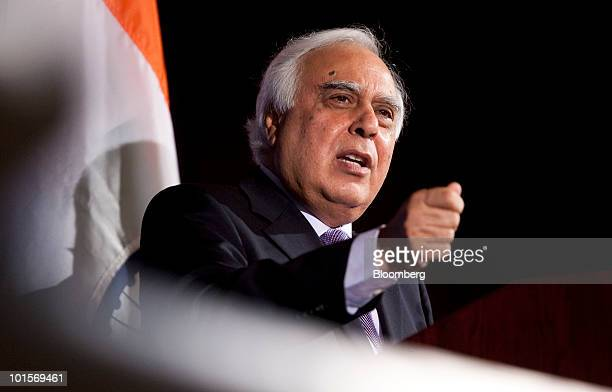 Kapil Sibal Indian union minister of human resource development speaks at the USIndia Business Council meeting in Washington DC US on Tuesday June 2...