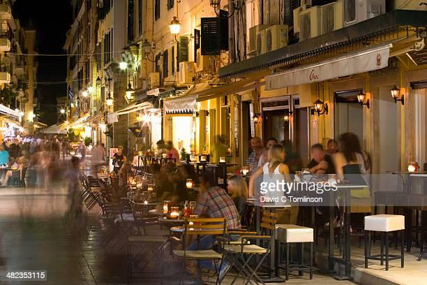 Kapodistriou by night, Corfu Town, Corfu, Greece
