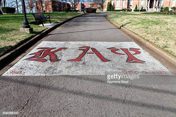 Kappa Alpha Psi's Fraternity logo at Fisk University on January 1 2016 in Nashville Tennessee