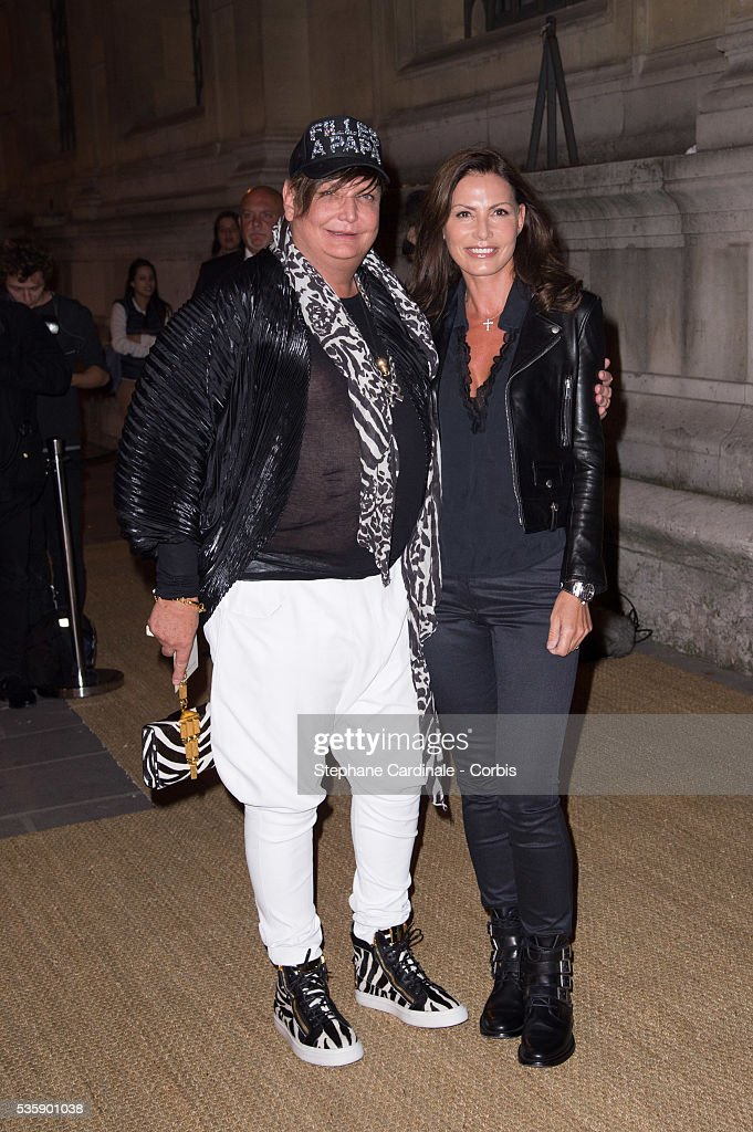 Kappauf and guest arrive at a Ralph Lauren Collection Show and private dinner at Les Beaux-Arts de Paris on October 8, 2013 in Paris, France. On this occasion Ralph Lauren celebrates the restoration project and patron sponsorship of 'L'Ecole des Beaux-Arts'.