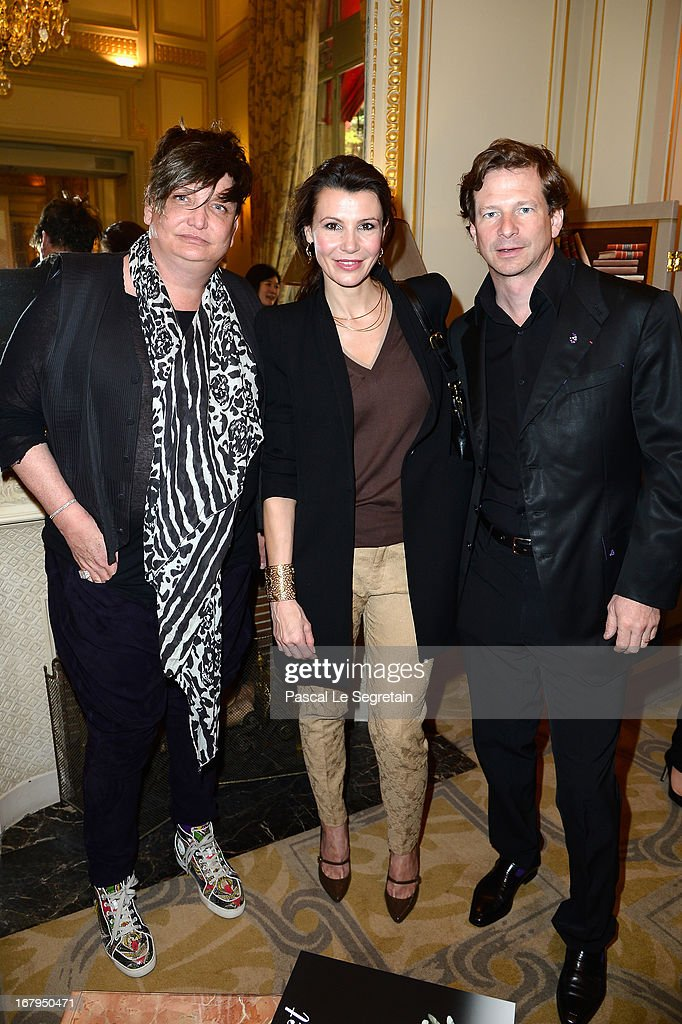 Kappauf, Anne Vogt-Bordure and Lorenz Baumer attend the 2013 Launch of the Dorchester Collection Fashion Prize 2013 at Hotel Plaza Athenee on May 3, 2013 in Paris, France.