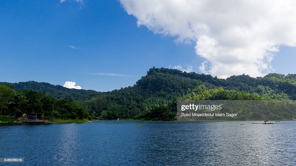 Kaptai Lake : sky & hill
