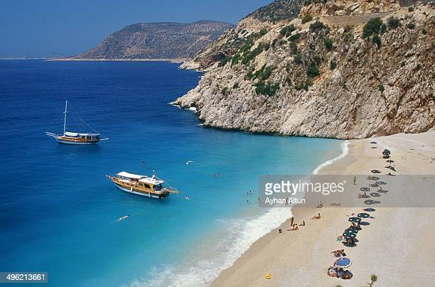 Kaputas Beach on Turkey's Mediterranean shore in A