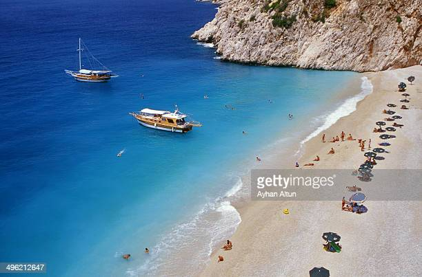 Kaputas Beach on Turkey's Mediterranean shore.
