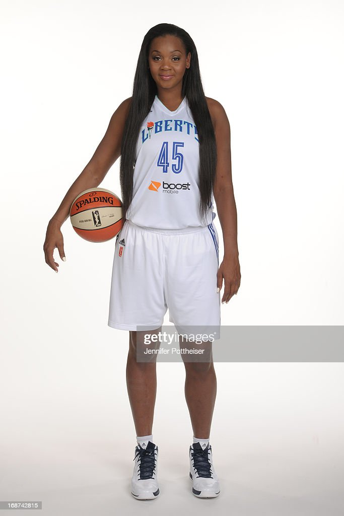 Kara Braxton #45 of the New York Liberty poses for a photo during WNBA Media Day on May 13, 2013 at the Madison Square Garden Training Facility in Tarrytown, New York.