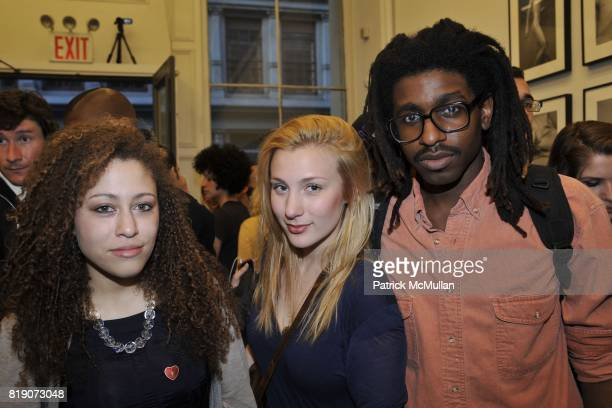 Kara Fowler Emily Kapsner and Brad Ogbonna attend Ryan McGinley Everybody Knows This Is Nowhere at Team Gallery on March 18 2010 in New York City