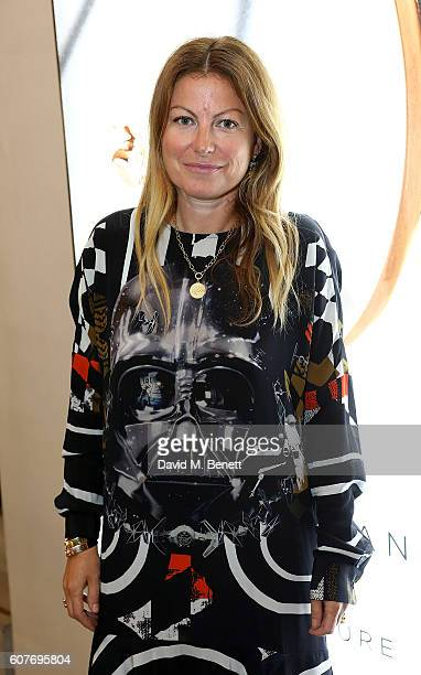 Kara Goodley attends an intimate dinner hosted by Monica Vinader to celebrate Fashion Artist Jenny Walton's illustrations of the iconic Signature...
