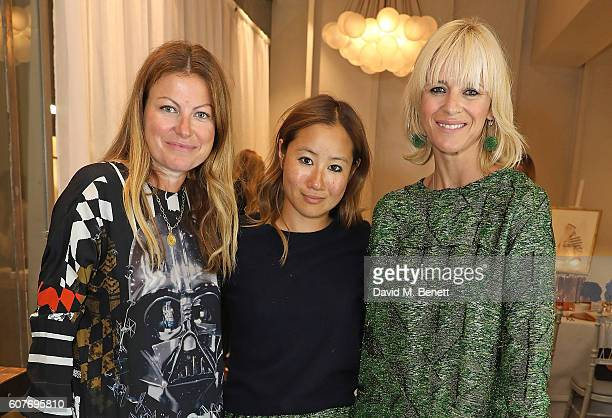 Kara Goodley Carolyn Asome and Deborah Brett attend an intimate dinner hosted by Monica Vinader to celebrate Fashion Artist Jenny Walton's...
