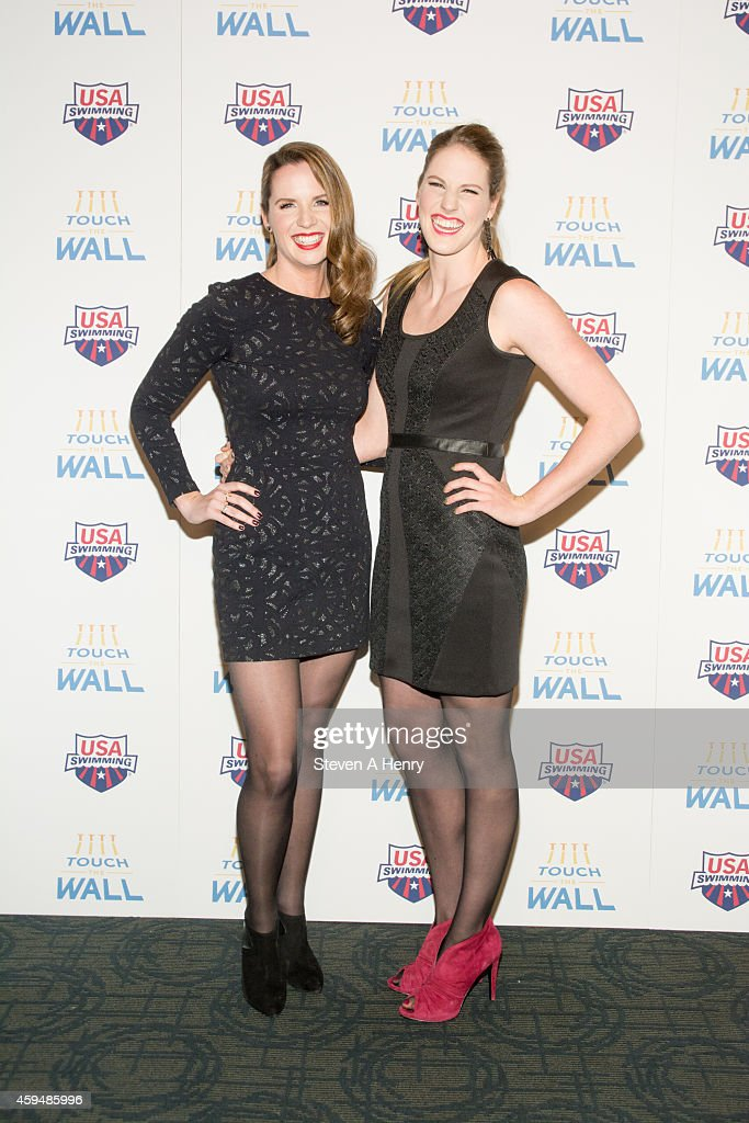 Kara lynn joyce and missy franklin attend the premiere of touch the