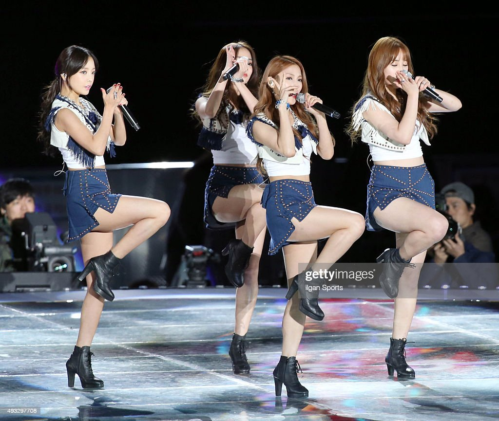 <a gi-track='captionPersonalityLinkClicked' href=/galleries/search?phrase=Kara&family=editorial&specificpeople=844908 ng-click='$event.stopPropagation()'>Kara</a> perform onstage during the One K concert at Seoul World Cup Stadium on October 9, 2015 in Seoul, South Korea.