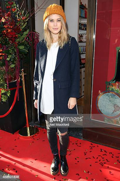 Kara Rose Marshall attends the Crabtree Evelyn Cracker Spectacular Launch Event at their Regents St Store on November 6 2014 in London England