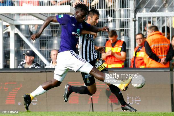 Kara Serigne Modou Mbodji defender of RSC Anderlecht and Kaveh Rezaei forward of Sporting Charleroi pictured during the Jupiler Pro League match...