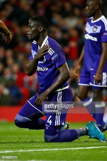 Kara Serigne Modou Mbodji defender of RSC Anderlecht during the match between Manchester United and Rsc Anderlecht UEFA Europa League quarter final...