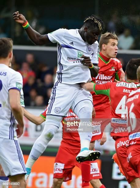 Kara Serigne Modou Mbodji defender of RSC Anderlecht during the Jupiler Pro League play off 1 match between KV Oostende and RSC Anderlecht on April...