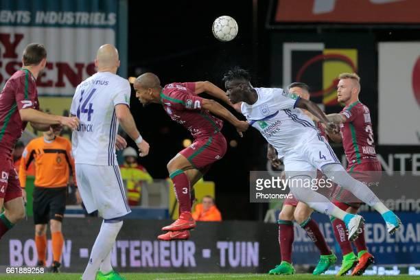 Kara Serigne Modou Mbodji defender of RSC Anderlecht pictured during the Jupiler Pro League PlayOff 1 match between Zulte Waregem and Rsc Anderlecht...