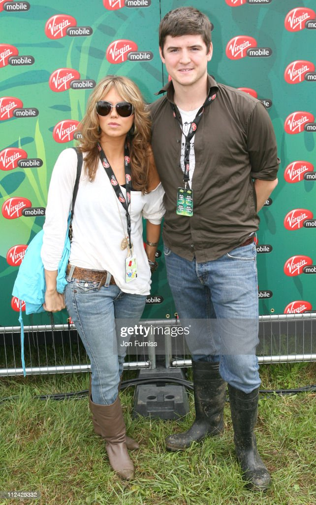Kara Tointon and James Alexandrou in the Virgin Mobile Louder Lounge at the V Festival