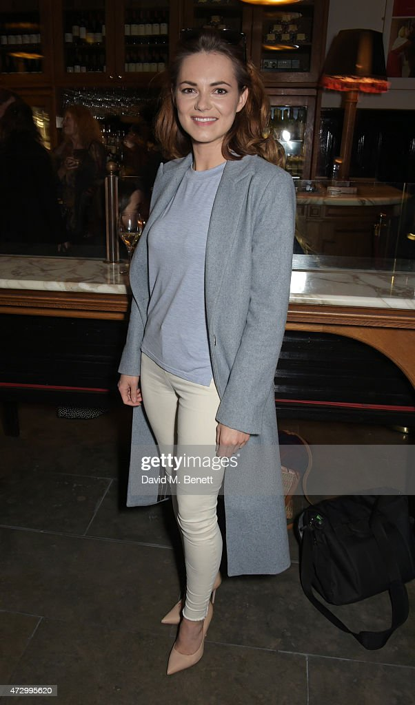 Kara Tointon attends an after party following the press night performance of 'Hay Fever' at the The National Cafe on May 11 2015 in London England