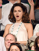 Kara Tointon attends day six of the Wimbledon Tennis Championships at Wimbledon on July 02 2016 in London England