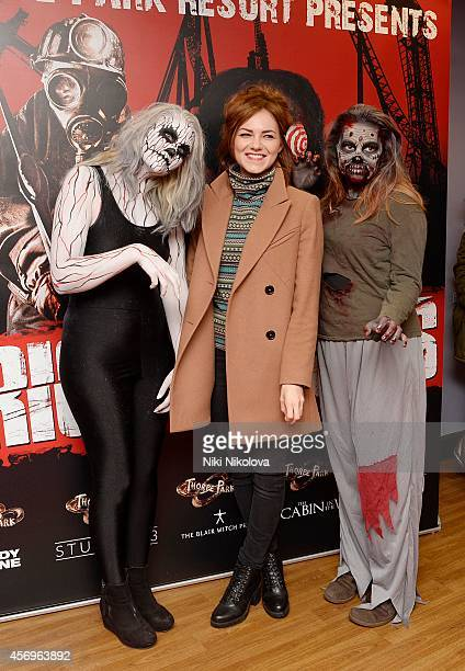Kara Tointon attends Friday Night VIP Event held in at Thorpe Park on October 9 2014 in Chertsey England