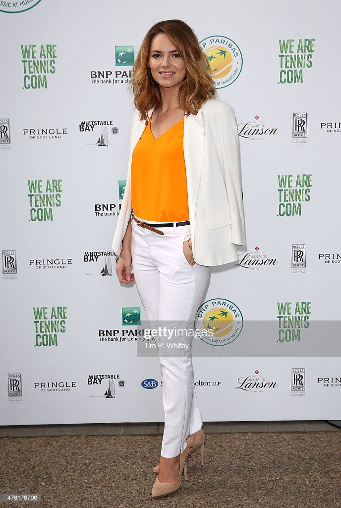 Kara Tointon attends the BNP Paribas Tennis Classic VIP Reception at The Hurlingham Club on June 23 2015 in London England