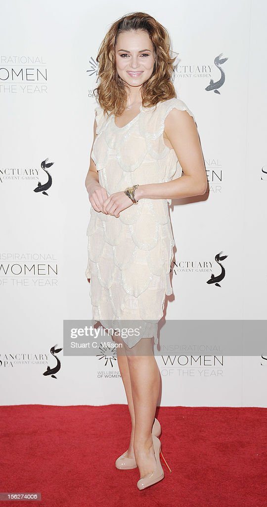 Kara Tointon attends The Daily Mail Inspirational Women of the Year Awards sponsored by Sanctuary Spa and in aid of Wellbeing of Women at Marriott Hotel Grosvenor Square on November 12, 2012 in London, England.