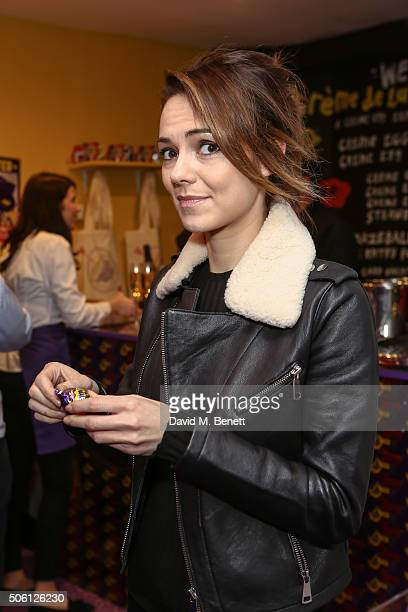 Kara Tointon attends the launch of the Cadbury Creme Egg Cafe in Soho on January 21 2016 in London England