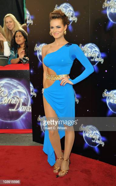 Kara Tointon attends the 'Strictly Come Dancing' Season 8 Launch Show at BBC Television Centre on September 8 2010 in London England
