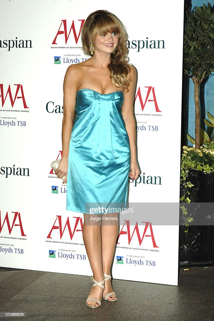 Kara Tointon during The Asian Women of Achievement Awards – Arrivals at London Hilton on Park Lane in London Great Britain
