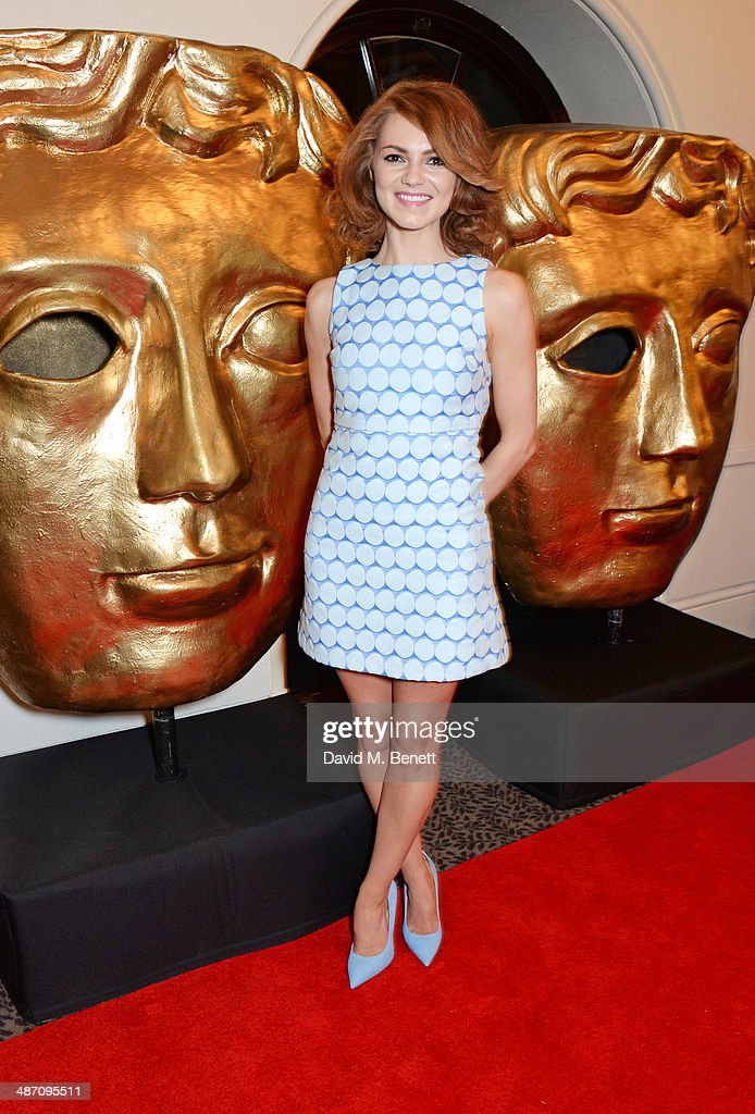 Kara Tointon poses in the press room at the BAFTA Television Craft Awards at The Brewery on April 27 2014 in London England