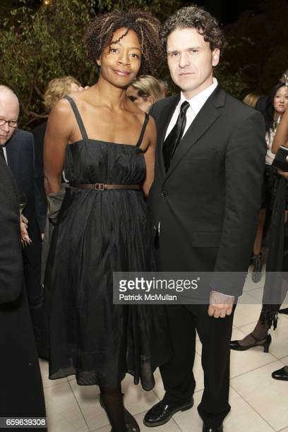 Kara Walker and Dave Eggers attend GALA IN THE GARDEN at HAMMER MUSEUM on October 10 2009 in Westwood California