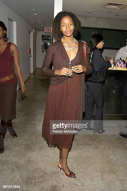 Kara Walker attends RISD and DKNY Launch OneOfAKind Cashmere Line at DKNY Madison Avenue on November 15 2005 in New York City