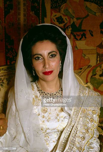 Benazir Bhutto on the eve of her arranged marriage to Asif al Zardari She has recently returned to Pakistan as the leader of the Pakistan People's...