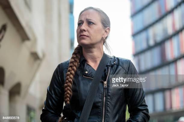 Karan Alliston mother of Charlie Alliston leaves the Old Bailey on September 18 2017 in London England Charlie Alliston has been sentenced to 18...