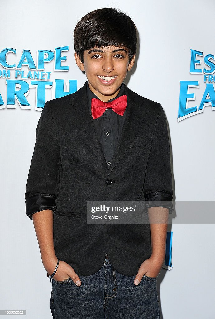 Karan Brar arrives at 'Escape From Planet Earth' at Mann Chinese 6 on February 2, 2013 in Los Angeles, California.