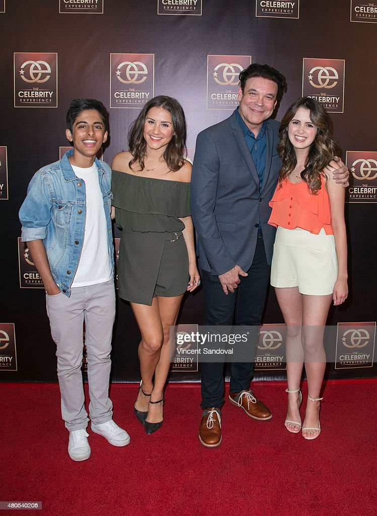 Karan Brar, Electra Formosa, George Caceres and Laura Marano attend The Celebrity Experience panel at Universal Hilton Hotel on July 12, 2015 in Universal City, California.