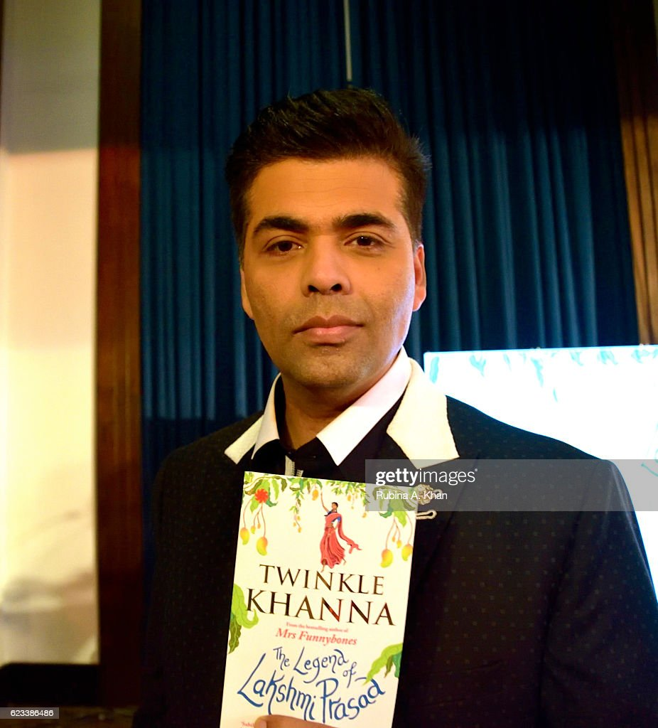 Karan Johar at the launch of Twinkle Khanna's second book, The Legend of Lakshmi Prasad, published by Juggernaut Books at the JW Marriott on November 15, 2016 in Mumbai, India.
