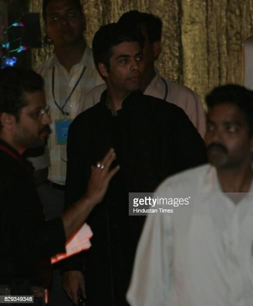 Karan Johar at the wedding of Aishwarya and Abhishek Bachchan