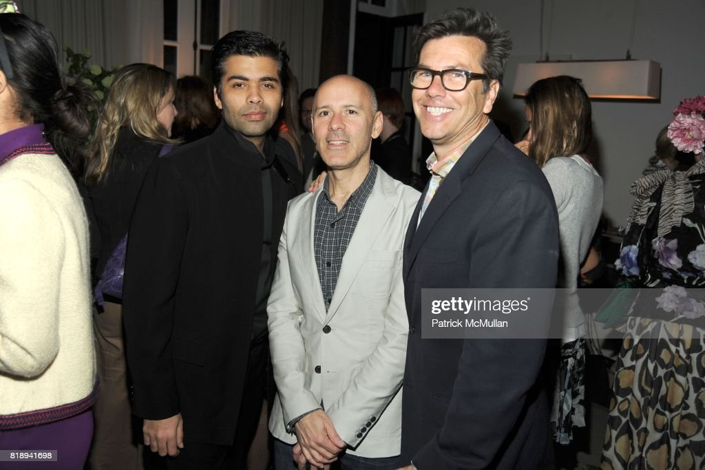 Karan Johar, David Kuhn and Kevin Thompson attend(s) THE MERCER Hosts Party to Celebrate CARLOS MOTA's New Book 'FLOWERS: Chic & Cheap' at The Mercer on May 11th, 2010 in New York City.