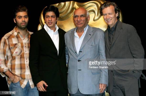 Karan Johar Shah Rukh Khan Yash Chopra and Duncan Kenworthy