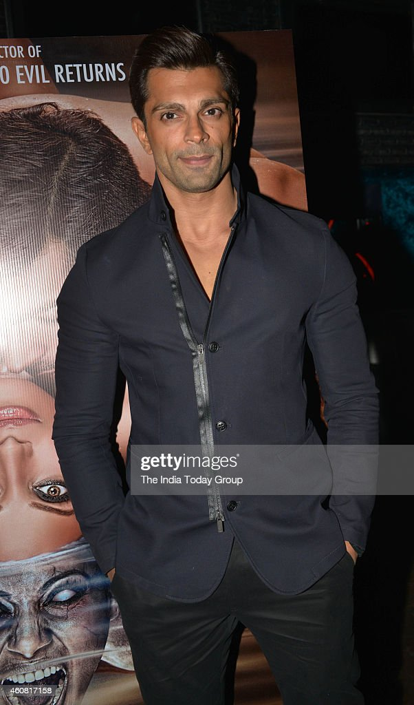 Karan Singh Grover at the Trailer and music launch of his upcoming movie Alone in Mumbai