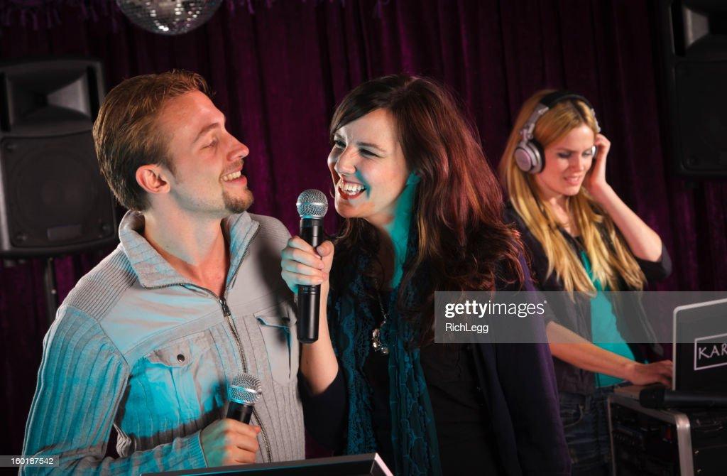 Karaoke Singers : Stock Photo