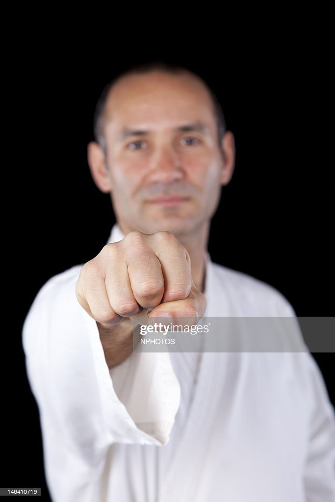 Karate black belt : Stock Photo