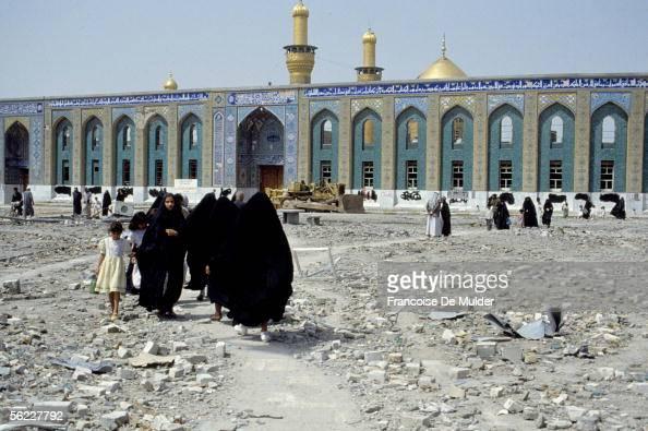 Karbala Mosque Abbas Shiite sanctuary in April 1991 FDM83212