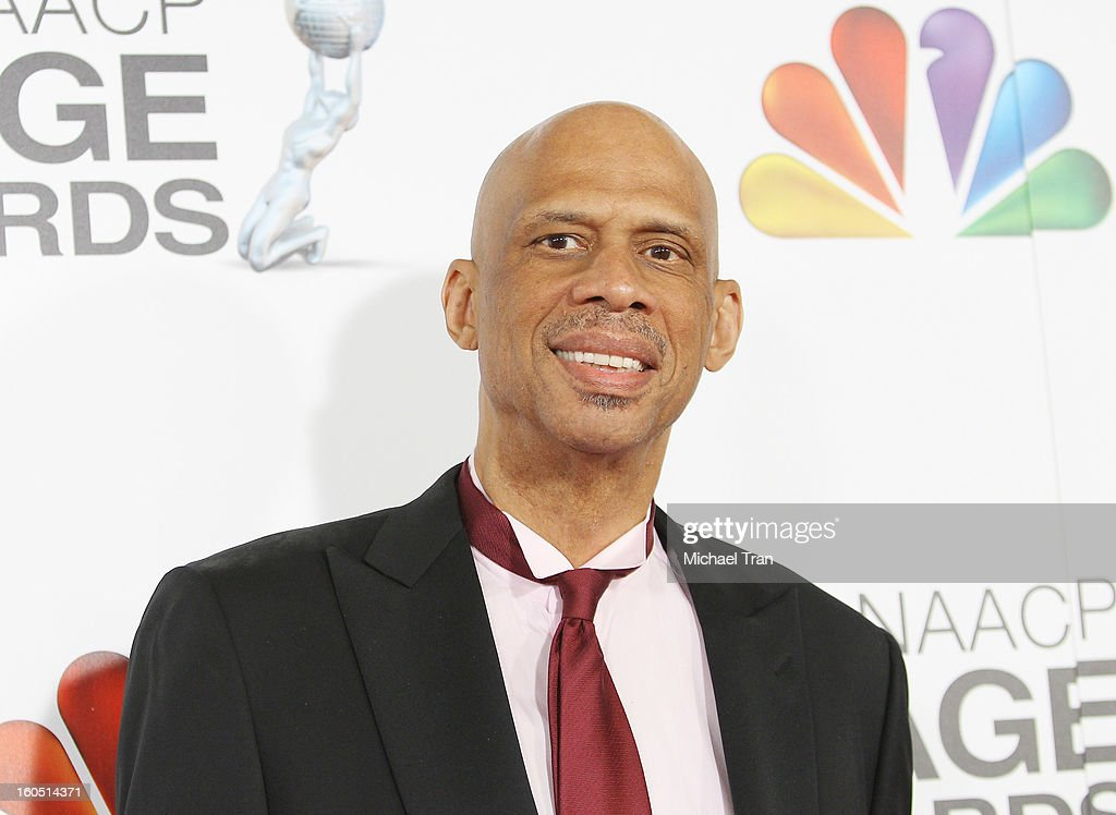 Kareem Abdul-Jabbar arrives at the 44th NAACP Image Awards held at The Shrine Auditorium on February 1, 2013 in Los Angeles, California.