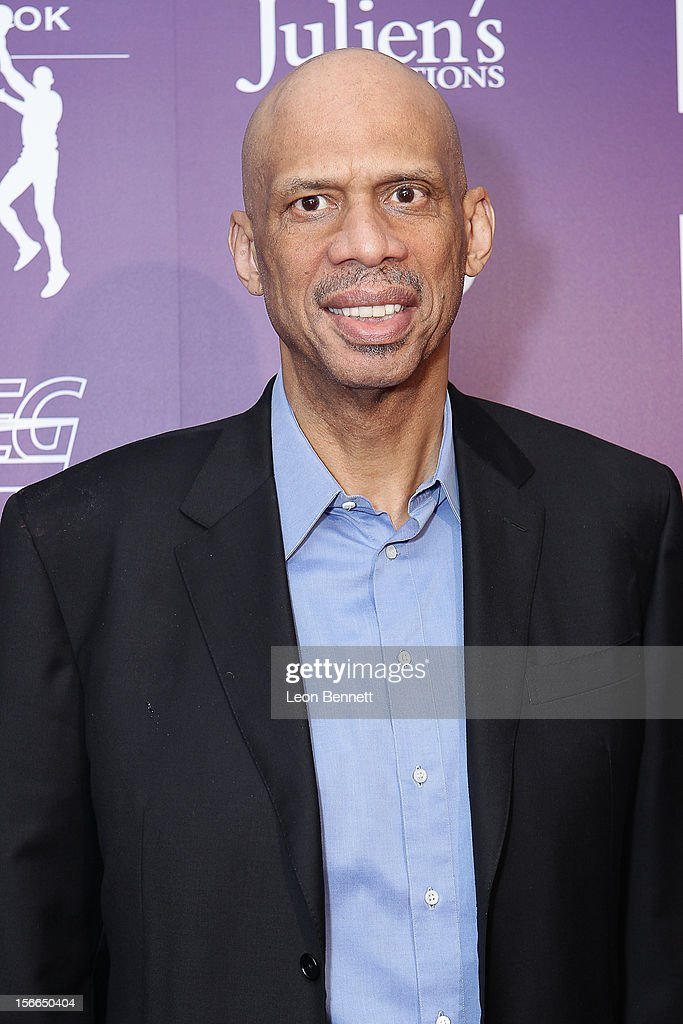 <a gi-track='captionPersonalityLinkClicked' href=/galleries/search?phrase=Kareem+Abdul-Jabbar&family=editorial&specificpeople=206219 ng-click='$event.stopPropagation()'>Kareem Abdul-Jabbar</a> arrives at the <a gi-track='captionPersonalityLinkClicked' href=/galleries/search?phrase=Kareem+Abdul-Jabbar&family=editorial&specificpeople=206219 ng-click='$event.stopPropagation()'>Kareem Abdul-Jabbar</a> Celebrity Roast Hosted By George Lopez at JW Marriott Los Angeles at L.A. LIVE on November 17, 2012 in Los Angeles, California.