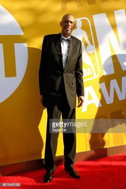 Kareem AbdulJabbar attends the 2017 NBA Awards at Basketball City Pier 36 South Street on June 26 2017 in New York City