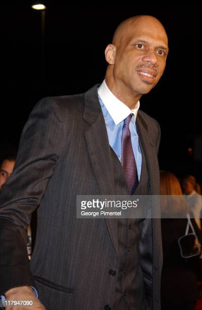 Kareem AbdulJabbar during TNT Sports Presents the American Express 'Magic' Johnson All Star Celebration at Shrine Auditorium in Los Angeles...