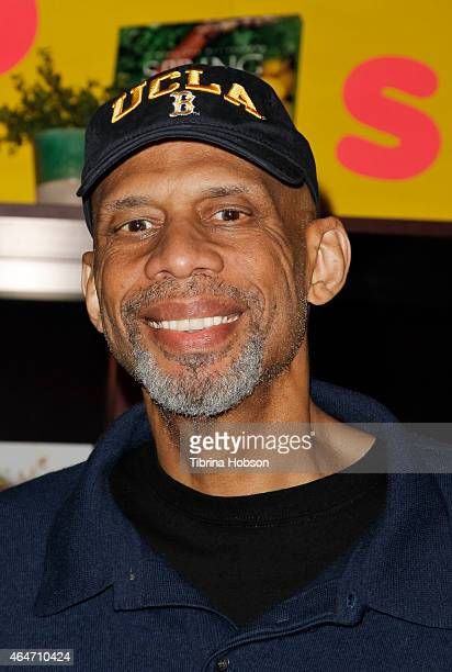Kareem AbdulJabbar greets his fans and signs copies of his book 'Streetball Crew Book 2 Stealing The Game' on February 27 2015 in Pasadena California