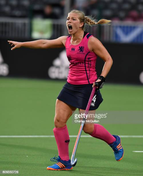 Kareena Cuthbert of Scotland during the Fintro Hockey World League SemiFinal tournament on June 24 2017 in Brussels Belgium