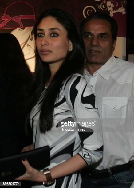 Kareena Kapoor and Dharmendra at HT Cafe Awards